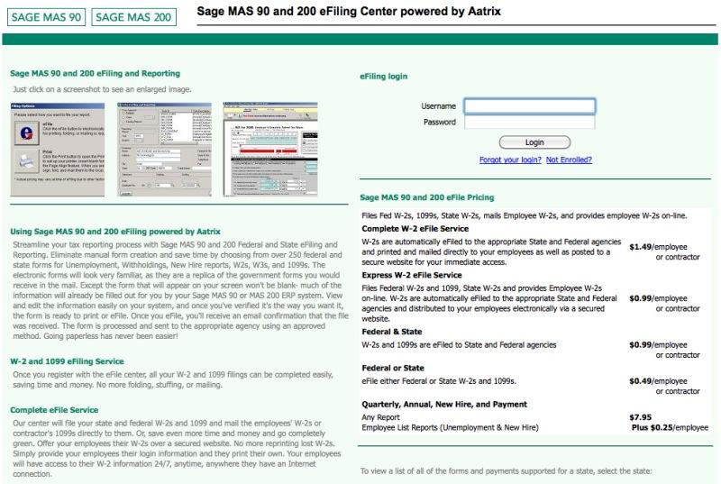 Sage aatrix payroll tax service