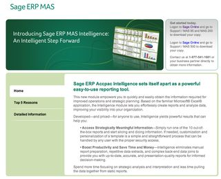 Sage erp mas intelligence
